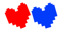 Undertale Red Soul and Blue Integrity Soul Cursor