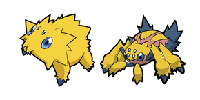 Pokemon Joltik and Galvantua