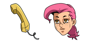 JoJo's Bizarre Adventure Vinegar Doppio and Phone Cursor
