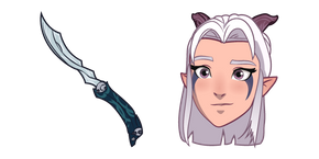 The Dragon Prince Rayla and Dagger Cursor