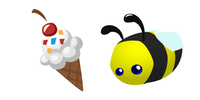 Animal Jam Pet Honeybee and Ice Cream