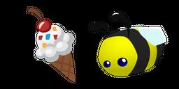 Animal Jam Pet Honeybee and Ice Cream Cursor