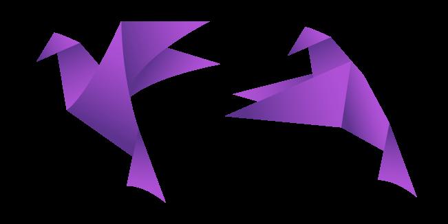 Purple Origami Bird