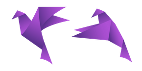 Purple Origami Bird Cursor