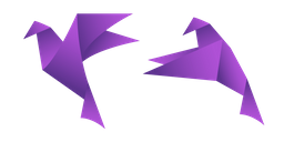 Purple Origami Bird Cursor