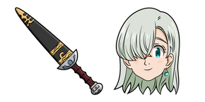 The Seven Deadly Sins Elizabeth Liones and Sword Cursor