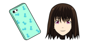 Noragami Iki Hiyori and Phone Curseur
