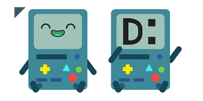 Adventure Time BMO Sits Cursor