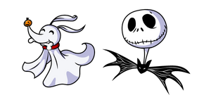 Nightmare Before Christmas Jack Skellington and Zero Curseur