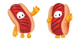 Fall Guys Character in Hot Dog Costume Cursor
