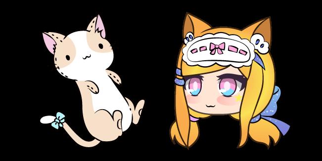 Gacha Life Senpaibuns and Kitty Plushie