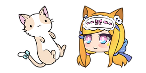 Gacha Life Senpaibuns and Kitty Plushie Curseur