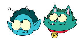 OK K.O.! Let's Be Heroes Radicles X and Where Cat Curseur