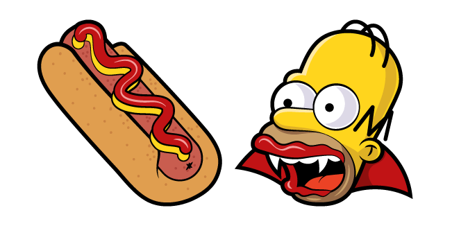 The Simpsons Homer Vampire and Hot Dog