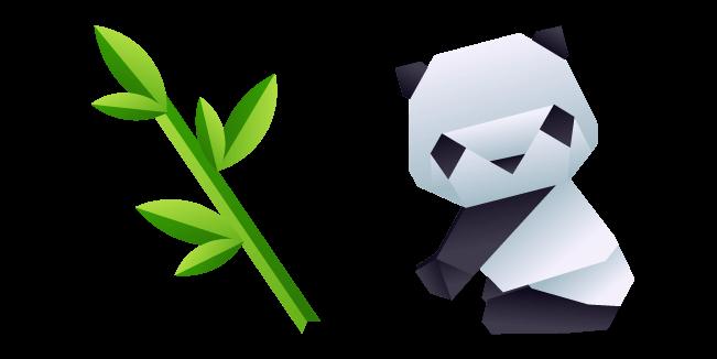 Origami Panda and Bamboo