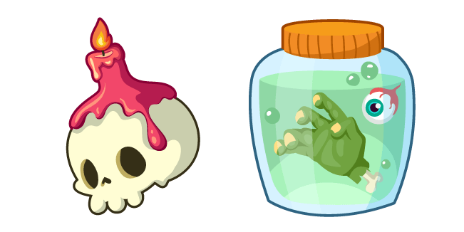 Halloween Skull and Jar