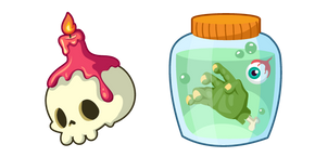 Halloween Skull and Jar Cursor