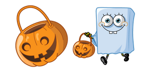 Spongebob Halloween Ghost and Jack-o-Lantern Cursor