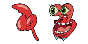 SpongeBob Creepy Mr. Krabs Cursor