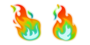 Rainbow Fire Cursor