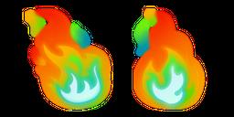 Rainbow Fire Curseur
