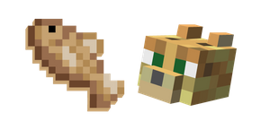Minecraft Ocelot and Raw Cod Cursor
