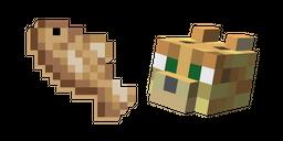 Minecraft Ocelot and Raw Cod Curseur