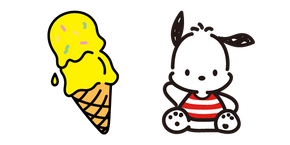 Pochacco and Banana Ice Cream Curseur