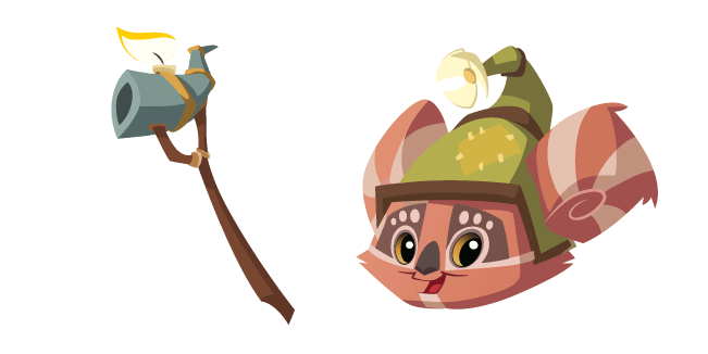Animal Jam Cosmo and Wooden Staff