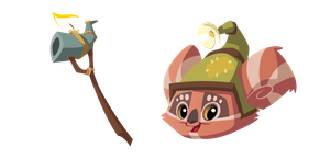 Animal Jam Cosmo and Wooden Staff Cursor