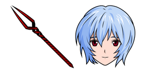 Neon Genesis Evangelion Rei Ayanami and Spear of Longinus Cursor