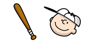 Peanuts Charlie Brown and Baseball Bat Cursor