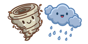 Cute Hurricane and Cloud Cursor