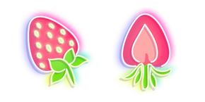 Neon Strawberry Cursor