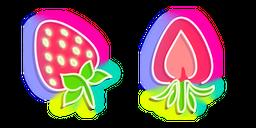 Neon Strawberry Cursor