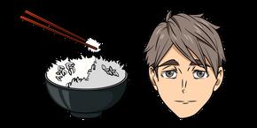 Haikyuu!! Osamu Miya and Rice Curseur