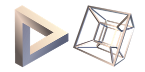 Penrose Triangle and Hypercube