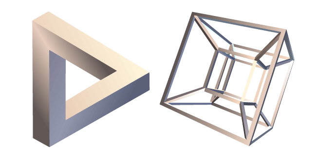Penrose Triangle and Hypercube