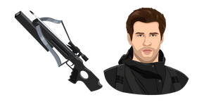 The Hunger Games Gale Hawthorne and Crossbow Curseur
