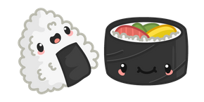 Cute Onigiri and Makizushi Curseur