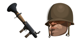 Team Fortress 2 Soldier and Rocket Launcher Cursor