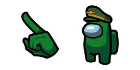 Among Us Green Character in General Hat Cursor