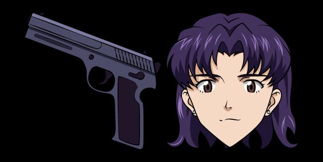 Neon Genesis Evangelion Misato Katsuragi and Pistol