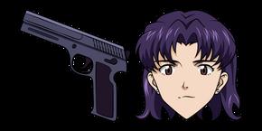 Neon Genesis Evangelion Misato Katsuragi and Pistol Cursor