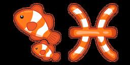 Cute Zodiac Sign Pisces Curseur