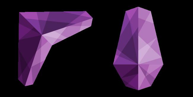 Абстрактный Фиолетовый Многоугольный Узор
