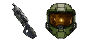 Halo John-117 and Assault Rifle Curseur