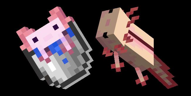 Minecraft Axolotl and Bucket of Axolotl