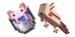 Minecraft Axolotl and Bucket of Axolotl