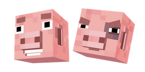 Курсор Minecraft Story Mode Рубен Свинья
